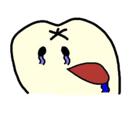 Sticker of cute tooth(ver without words) sticker #629223