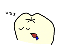 Sticker of cute tooth(ver without words) sticker #629225