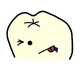 Sticker of cute tooth(ver without words) sticker #629226