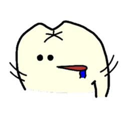Sticker of cute tooth(ver without words) sticker #629229