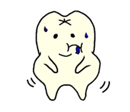 Sticker of cute tooth(ver without words) sticker #629234