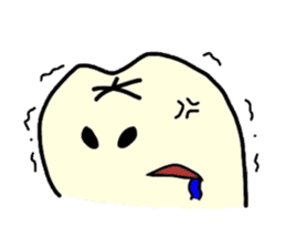 Sticker of cute tooth(ver without words) sticker #629235