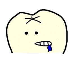 Sticker of cute tooth(ver without words) sticker #629241