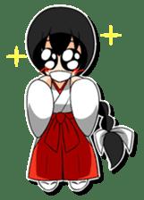 Shrine maiden miko. sticker #629446