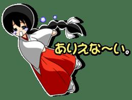 Shrine maiden miko. sticker #629457