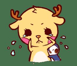 deer & penguin sticker #629887
