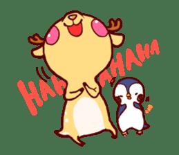deer & penguin sticker #629892