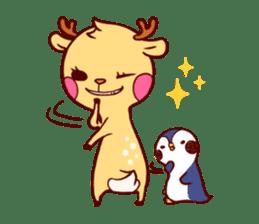 deer & penguin sticker #629899