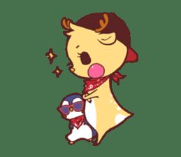 deer & penguin sticker #629907
