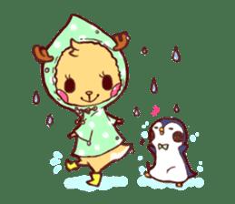 deer & penguin sticker #629909