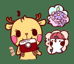 deer & penguin sticker #629910