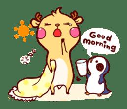 deer & penguin sticker #629914