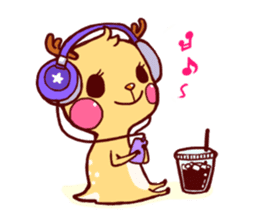 deer & penguin sticker #629917