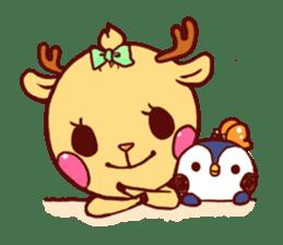 deer & penguin sticker #629921