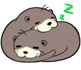 Otter and Crab sticker #629925