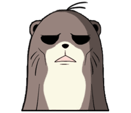Otter and Crab sticker #629926