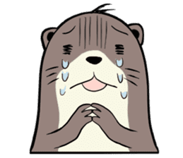 Otter and Crab sticker #629928