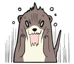 Otter and Crab sticker #629929