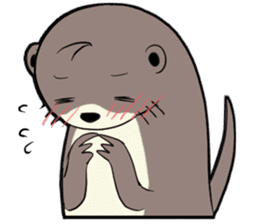Otter and Crab sticker #629931
