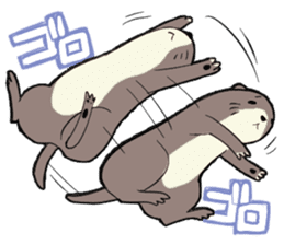 Otter and Crab sticker #629936