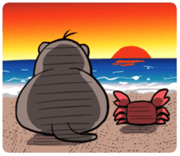 Otter and Crab sticker #629938