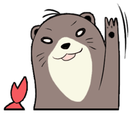 Otter and Crab sticker #629943