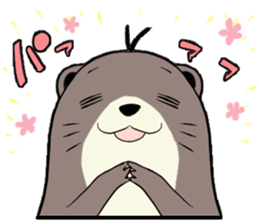 Otter and Crab sticker #629944
