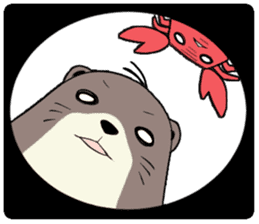 Otter and Crab sticker #629947