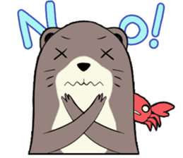 Otter and Crab sticker #629956