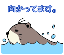 Otter and Crab sticker #629957