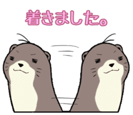 Otter and Crab sticker #629958