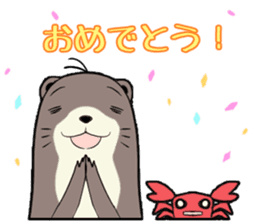Otter and Crab sticker #629959