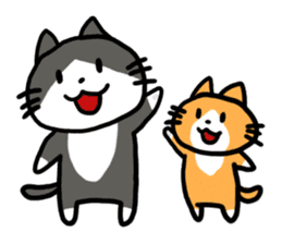 Two cats sticker #631204