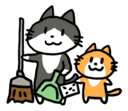Two cats sticker #631225