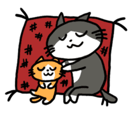 Two cats sticker #631226