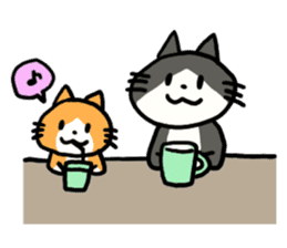 Two cats sticker #631229