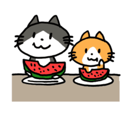 Two cats sticker #631230