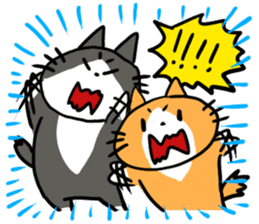 Two cats sticker #631234