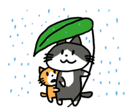 Two cats sticker #631235