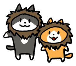 Two cats sticker #631240