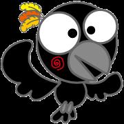 สติ๊กเกอร์ไลน์ Fashionable crow