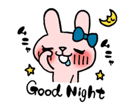 Pinky Rabbit Raby sticker #633244
