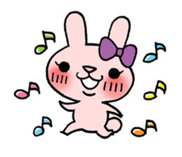 Pinky Rabbit Raby sticker #633245