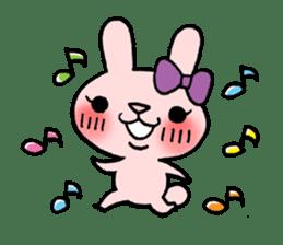 Pinky Rabbit Raby sticker #633245