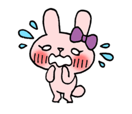 Pinky Rabbit Raby sticker #633248