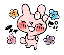 Pinky Rabbit Raby sticker #633249