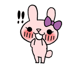 Pinky Rabbit Raby sticker #633250
