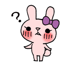 Pinky Rabbit Raby sticker #633251