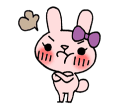 Pinky Rabbit Raby sticker #633255