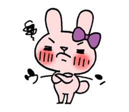 Pinky Rabbit Raby sticker #633256